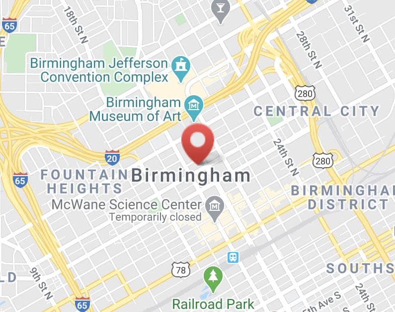 PDH location on the map of Birmingham